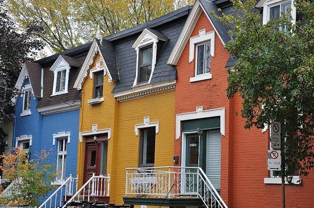 rue drolet, montréal, drolet, maison, couleur, peinture